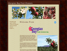 Tablet Preview of georgianbayfruitgrowers.org
